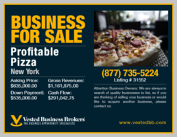 Profitable Pizzeria in Kings County, NY  - 31552