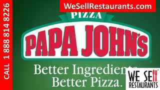 Papa Johns Franchise for sale in Alabama