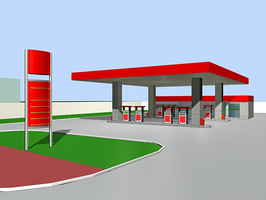 Gas Station with Convenience Store