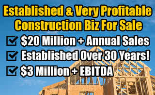 Very Profitable Construction Business