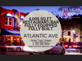 Atlantic Avenue Restaurant / Bar - Fully Equipped
