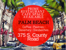 Palm Beach Island Restaurant/Cafe for Lease