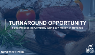 Turnaround Opportunity: Food Processing Company