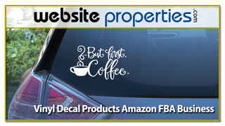 Vinyl Decal Products Amazon FBA Business
