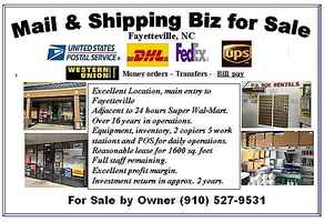 USPS, Fedex, UPS, DHL Mail & Shipping Biz For Sale