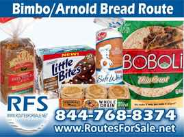 Arnold & Bimbo Bread Route, Greater Greenwood, SC