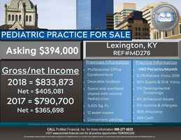 Pediatric Practice in Lexington, KY for Sale