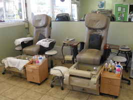 nail salon and private facial room. Or tattoo shop