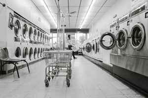 Profitable Coin Laundry with Shopping Center