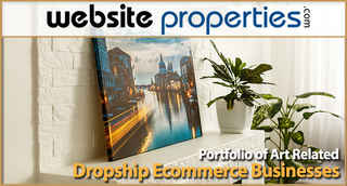 Portfolio of Art Related Dropship Ecomm Businesses