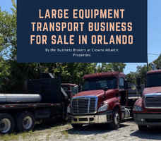 Large Equipment Transport Business For Sale