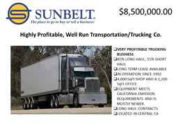 Profitable, Well Run Southern California Trucki...