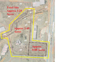 Land: 3.25 AC w/.80 AC Frontage-Surrounded Centers