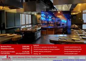 The Japanese Kitchen Steakhouse-turnkey w/full bar