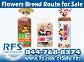 Flowers Bread Route for Sale, New Lexington, OH
