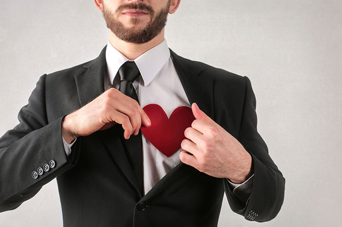 businessman with heart