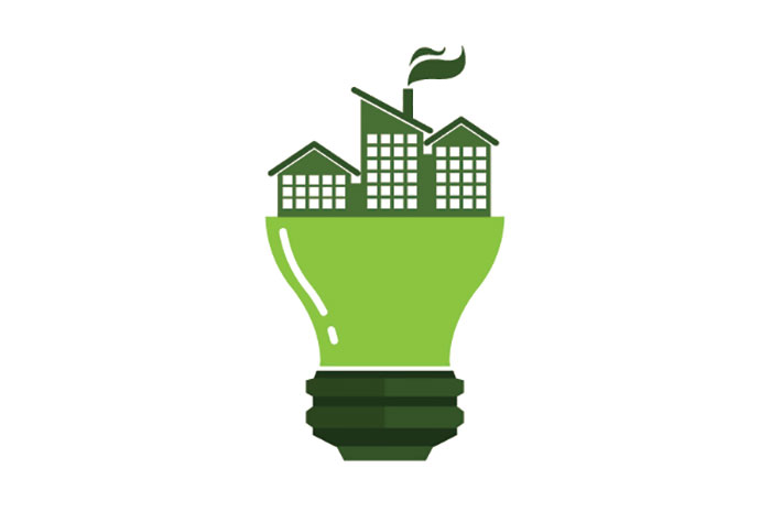 green innovation light bulb